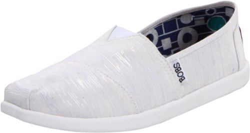 Skechers Women's Bobs World Ballet Flats 39537 Wht White 7 UK