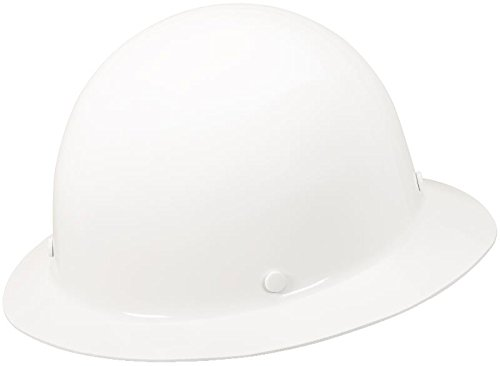 MSA 475408 Skullgard Full-Brim Protective Hat w/ Fas-Trac III Suspension, White, Standard (Msa Hard Hat Full Brim compare prices)