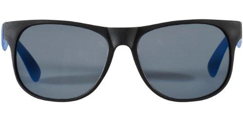 """Retro Sonnenbrille - UV 400 zertifiziert - Sonnenbrille im """"Nerdlook"""" (schwarz und blau)"""