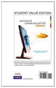 Business Communication Today, Student Value Edition (10th...