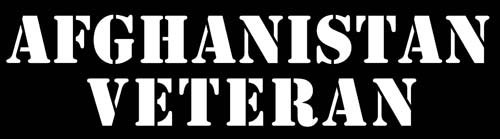 Black Afghanistan Veteran (Military Vet) Bumper Sticker