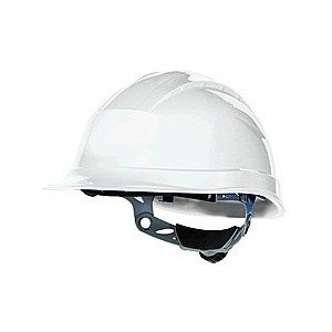 Venitex Quartz III Hard Hat Safety Helmet With 3 Adjustable Cradle Straps And Ratchet Adjustment - White