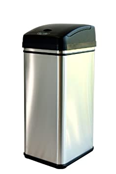 iTouchless Deodorizer Touch-Free Sensor 13-Gallon Automatic Stainless-Stee​l Trash Can