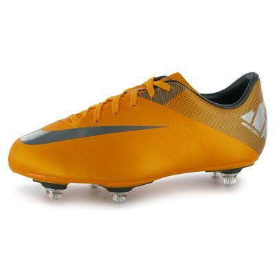 Nike Mercurial Victory II SG Junior Football Boots Orange/Black 3 UK UK