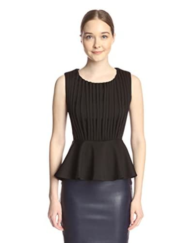 Gracia Women's Front Strap Peplum Top
