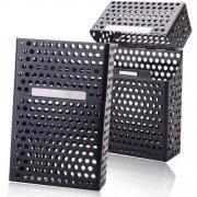 Metal Mesh Hole Design Durable Cigarette Case Box - Black