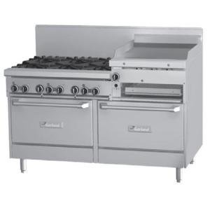 """Liquid Propane And 240V Garland Gfe60-6R24Rr 6 Burner 60"""" Gas Range With Flame Failure Protection, 2"""