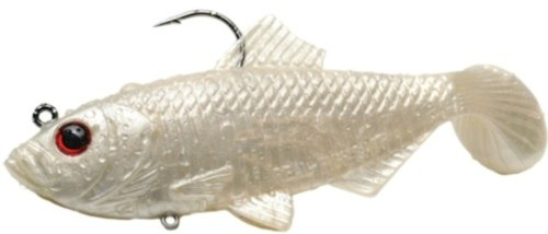 Real Fish Bait 4-Inch Shad, Pearl White