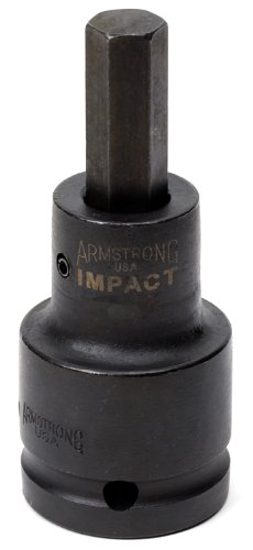 Armstrong 48-724 3/4-Inch Drive Impact Hex Bit Socket, 19 mm