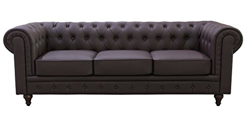 Full Grain Leather Chesterfield Sofa