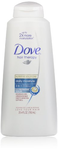 Dove Hair Therapy, Daily Moisture 2in1 Shampoo + Conditioner, 25.4oz  (Pack of 2)