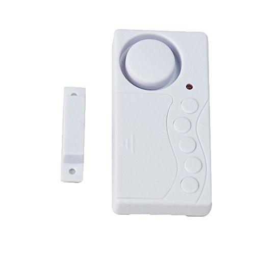 MOGOI(TM) Fenster Defender Alarm Türklingel Drahtlos Passwort Detector Eintrag Glocke Warner (Weiß) mit MOGOI Accessorie