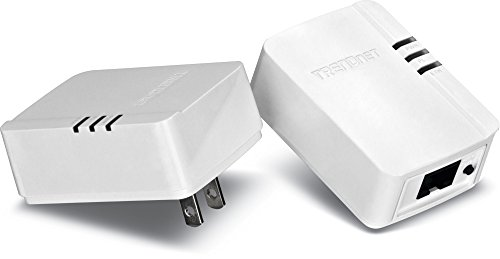 TRENDnet Powerline AV200 Mini Network Adapter Starter Kit, up to 200 Mbps over existing electrical lines, TPL-308E2K (Electrical Starter Kit compare prices)