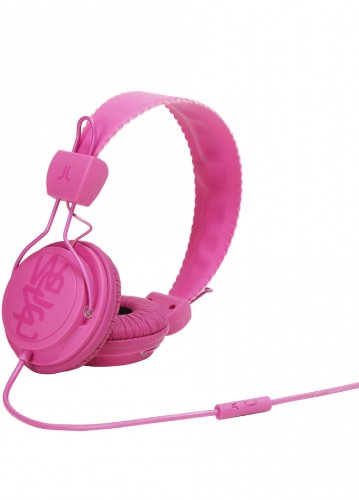 Wesc 0007001750 Matte Conga Headphones With Volume Control, Magenta