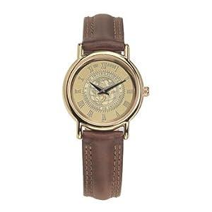 SMU - Southern Methodist University - Ladies 18K Gold 7M Watch Brown