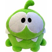 """Angry Birds Hungry Om Nom: ~5"""" Cut The Rope Mini Plush"""