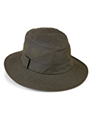 Pure Cotton Wide Brim Waxed Typhoon Hat