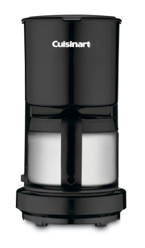 Cuisinart DCC-450BK 4-Cup Coffeemaker with Stainless-Steel Carafe, Black (Thermal 4 Cup Coffee Maker compare prices)