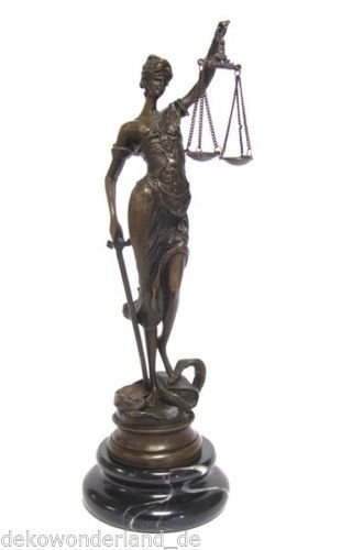 Bronzefigur Figur Skulptur Justizia