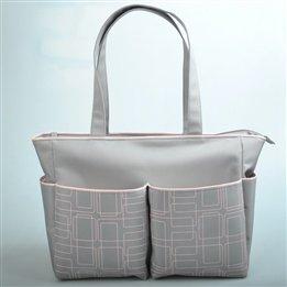 2 Piece Beyje Durable Single Shoulder Multifunctional Baby Diaper Bag (Pink)