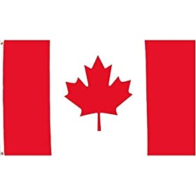 Canadian Flag 3 feet by 5 feet - Superknit polyester just $12