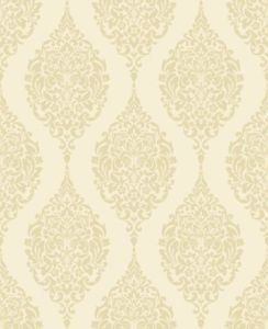 Home of Colour Damask Stripe Wallpaper - Cream from New A-Brend
