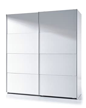 Savona Gloss White Sliding Door Wardrobe by furniturefactor