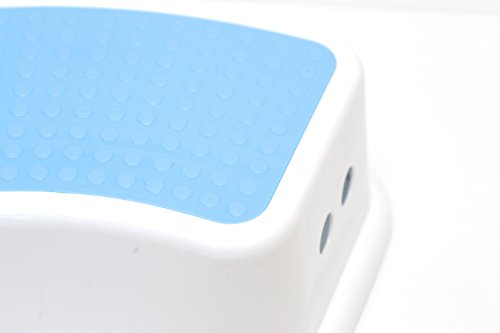 Go Tots Children's Step Stool - Portable Lightweight Kids Stool for Stepping and Sitting; Ideal Furniture for the Bathroom, Bedroom, Kitchen, and Living Room (Blue)