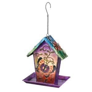"Regal Art & Gift 10554 - 10.75"" X 8.5"" Butterfly Bird Feeder Solar Led Light Lantern"