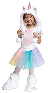 Fun World Costumes Baby Girl's Unicorn Toddler Costume, White, Large (3T-4T)