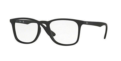 ray-ban-rx7074-glaser-in-schwarzem-gummi-rx7074-5364-52-52-clear