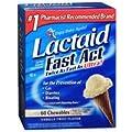 Lactaid Lactose Enzyme Supplement, Chewables, Vanilla Twist Flavor 60 ct (Pack of 3)