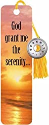 "Serenity Prayer (Beach) by Beaded Bookmark 1.5625""x5.875"" Art Print Poster"
