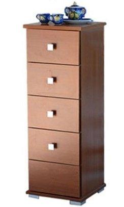 Mueble cajonera Baby 5cajones madera 31x 30x 91cm arredo casa color cerezo