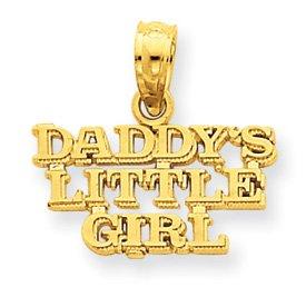 14k Daddy's Little Girl Pendant