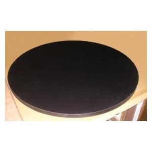 Round 24 Diameter Black Bar Cafe Table Great Gift!