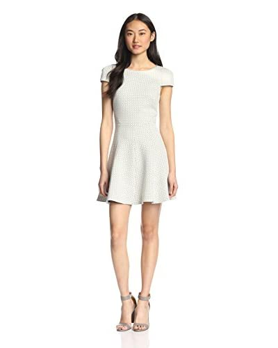 4.collective Women's Circles Quilt Capsleeve Dress