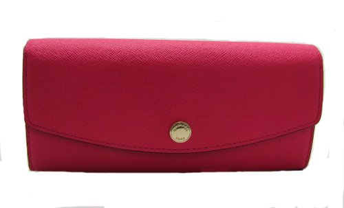 Michael Michael Kors Saffian Color Block Large Slim Flap Wallet Zinnia