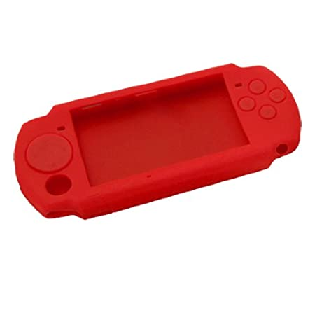 Gino Red Nonslip Silicone Skin Case Cover for Sony PSP 3000