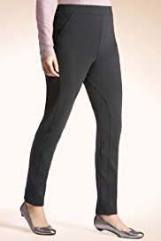 Secret Support Flat Front Panelled Ribbed Treggings [T57-3921-S]