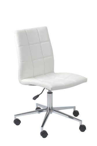 Ideal Euro Style Cylindrical Office Chair WhiteChrome