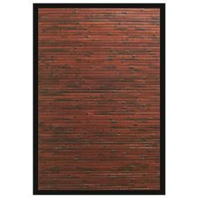 Anji Mountain Bamboo area rug with rustic bamboo slats