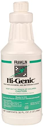 Hi-Genic F270012 32-Ounce Thick Non Acid Bowl And Bathroom Cleaner Bottle (Case of 12)