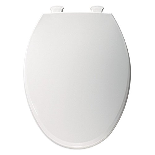 Bemis 1800EC000 Plastic Elongated Toilet Seat With Easy Clean And Change Hing