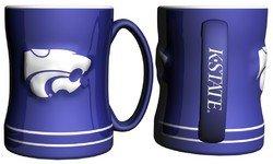 Kansas State Wildcats Coffee Mug - 15Oz Sculpted