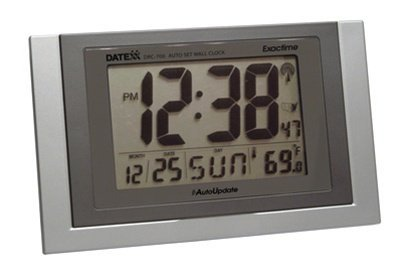 Datexx Radio Control Wall Clock with Date and Temperature