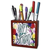 Florene Special Events Happy 65th Birthday Tile Pen Holders 5 inch tile pen holder