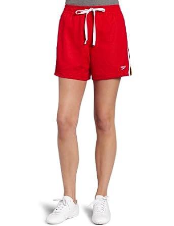 Amazon.com: Speedo Women's Mesh Reversible Short,Red,Small