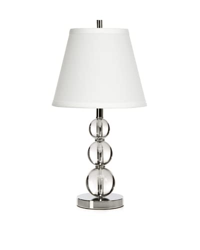 Trend Lighting Palla Accent Table Lamp, Crystal/Chrome