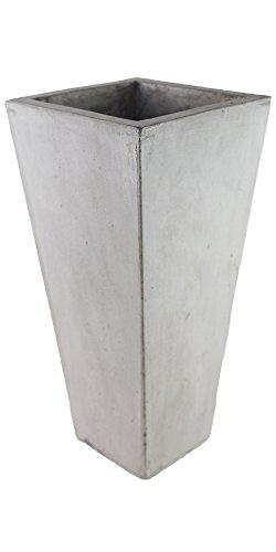 57% Rabatt auf: TERAMICO UNIQUE Leichtbeton Vase Quadrat Hoch 20